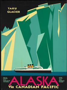 Placa Decorativa Alaska Cartão Postal PDV554