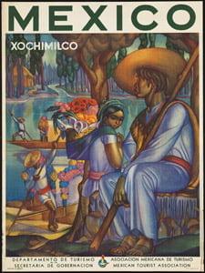Placa Decorativa Poster Mexico Cartão Postal PDV562