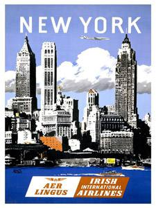Placa Decorativa New York Cartão Postal PDV577