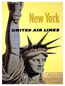 Placa Decorativa Nova York America Cartão Postal PDV578