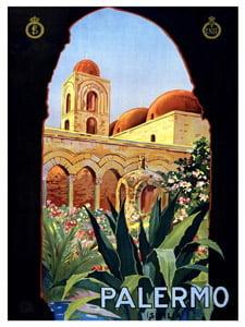 Placa Decorativa Palermo Italia Cartão Postal PDV579