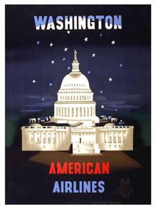 Placa Decorativa Whashington USA Cartão Postal PDV592