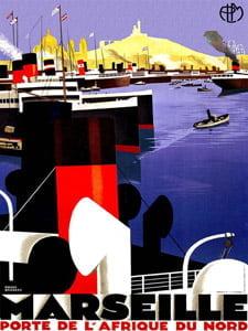Placa Decorativa Marseille França Cartão Postal PDV573