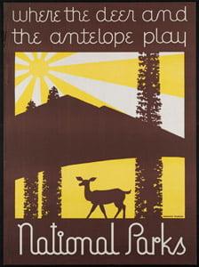 Placa Decorativa Parques Nacionais Cartão Postal PDV567