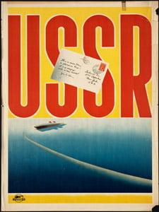 Placa Decorativa USSR União Sovietica Cartão Postal PDV565