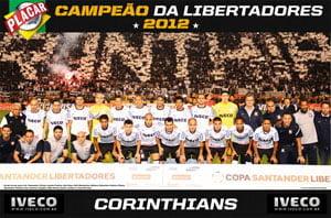 Placa Decorativa Corinthians 2012 PDV455