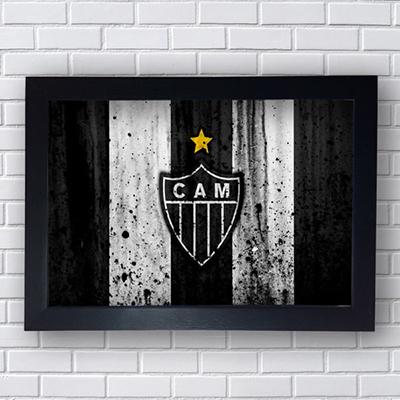 Placa Quadro Bandeira Decorativo Clube Atlético Mineiro