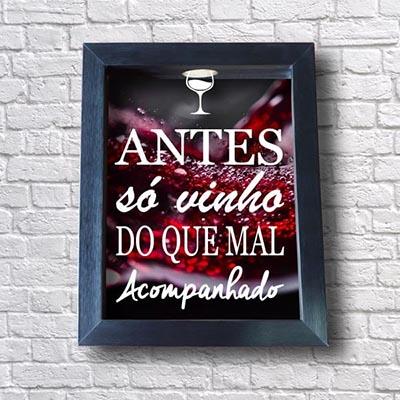 Porta Rolha de Vinho - Antes só vinho