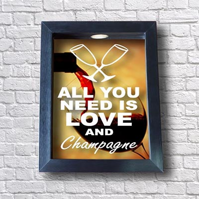 Quadro para Rolha Champagne