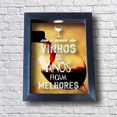 Quadro Para Rolhas - Com o passar dos vinhos