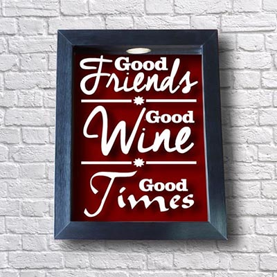 Quadro Porta Rolhas - Good Friends Good Wine