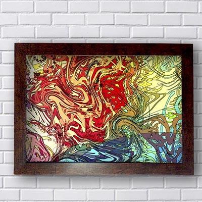 Quadro Abstrato Formas Coloridas