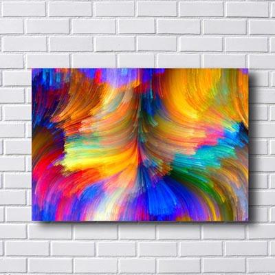 Quadros Abstratos Linhas Coloridas