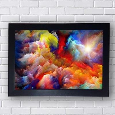Quadros Modernos Nuvens Coloridas