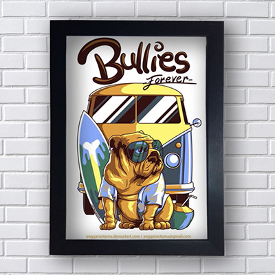 Placa Quadro Decorativo Bullies Forever