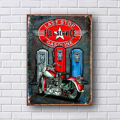 Quadro Decorativo Last Stop Gasoline