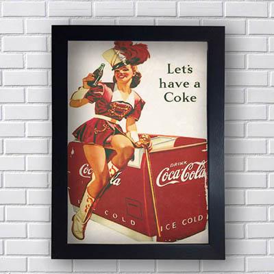 Quadro Coca Cola Let´s Have a Coke