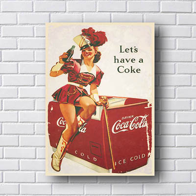 Quadro Coca Cola Let´s Have a Coke