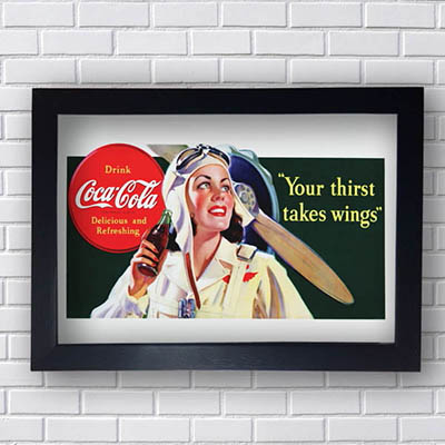 Quadros Coca Cola Your Thirst Takes Wings