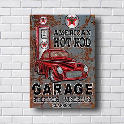 Quadro Carro Vintage Garage