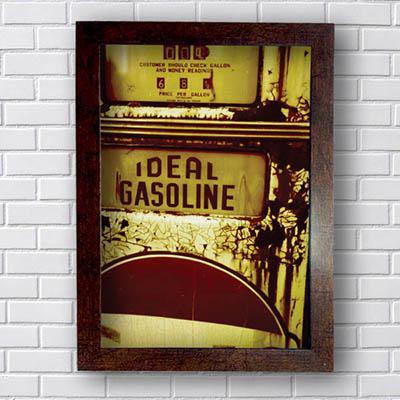 Quadro Carro Vintage Ideal Gasoline