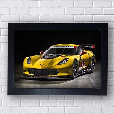 Quadro Corvette Esportivo Amarelo