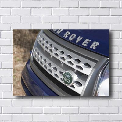 Quadro Decorativo Land Rover Grade Frontal