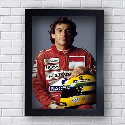 Quadro decorativo piloto Ayrton Senna