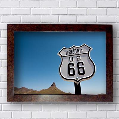 Quadro Decorativo Rota 66