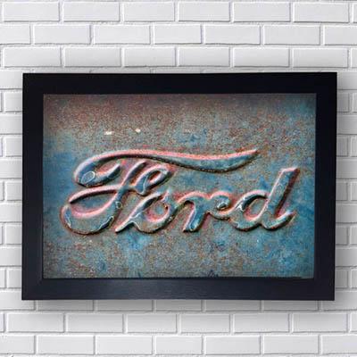 Quadro Vintage Carro Ford