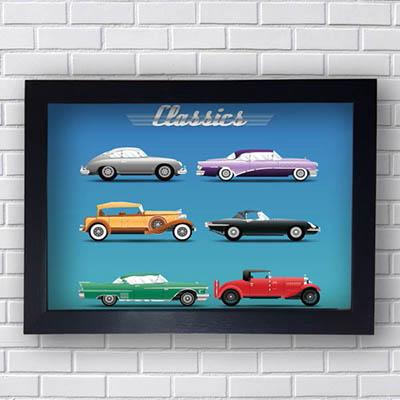Quadro Vintage Carros Classics