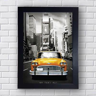 Quadro Vintage Taxi New York