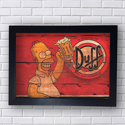 Placa Homer Duff A original
