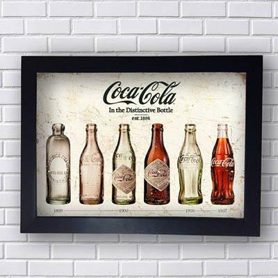 Quadro Coca Cola Garrafas