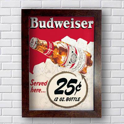 Quadro Budweiser Served Here