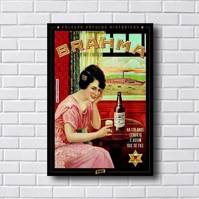 Quadro Cerveja Brahma Rotulo Histórico