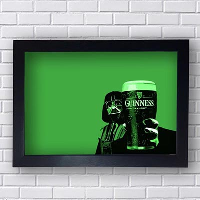 Quadro Decorativo Guinness Darth Vader