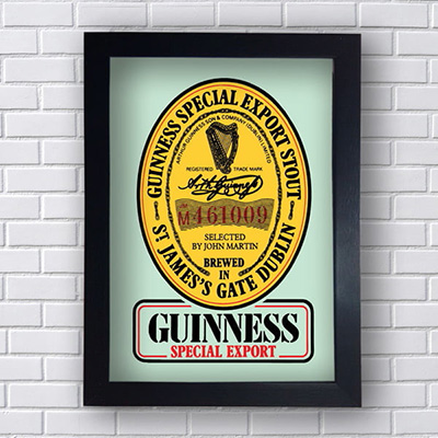 Quadro Decorativo Guinness Special Export