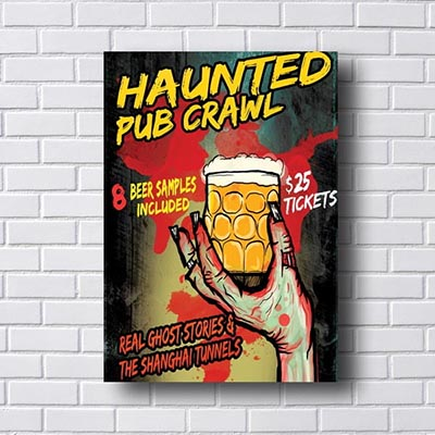 Quadro Decorativo Haunted Pub