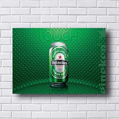 Quadro Decorativo Heineken
