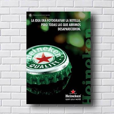 Quadro Heineken Open Your World