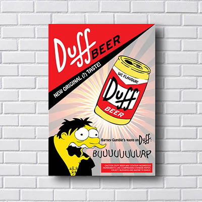 Quadro Duff Beer New Original