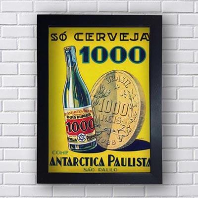 Quadro Vintage Antarctica Paulista