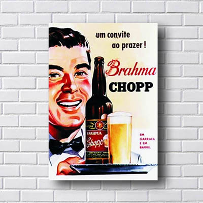 Quadro Vintage Brahma Chopp