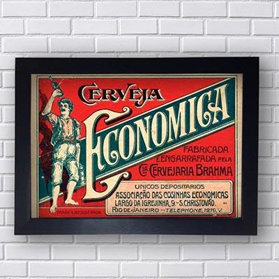 Quadro Vintage Brahma Economica