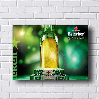 Quadro Vintage Cerveja Heineken