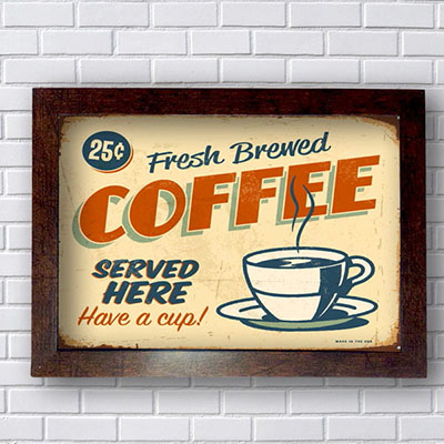 Quadro Decorativo Coffe Served
