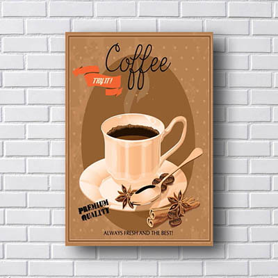Quadro Decorativo Coffee Premium Quality