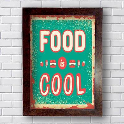 Quadro Decorativo Hamburguer Food Cool