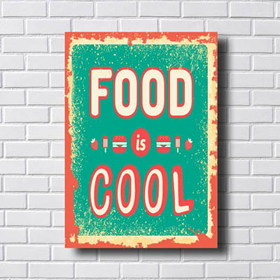 Quadro Decorativo Hamburguer Food Cool